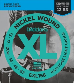 Daddario Nickel Wound Baritone Electric Guitar Strings