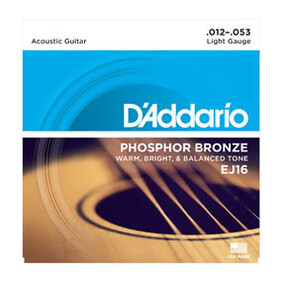 Daddario Standard Phosphor Bronze Acoustic Guitar Strings
