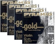 Pyramid Gold Violin Single Strings