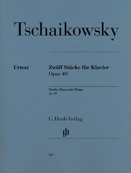 Twelve Piano Pieces op. 40 - P.I. Tchaikowsky - CLEARANCE - was $45.95