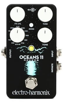 Electro Harmonix Oceans 11 Reverb Pedal inc. Power Supply
